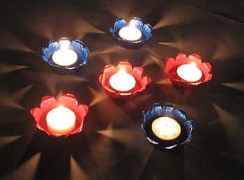 Painted Muffin Tin Tealight Holder Project | Candle Making ...