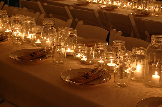 Outdoor wedding candles Chell Paperie Thanks to Chell Paperie what a