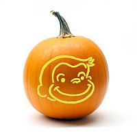 Free Curious George Pumpkin Carving Pattern