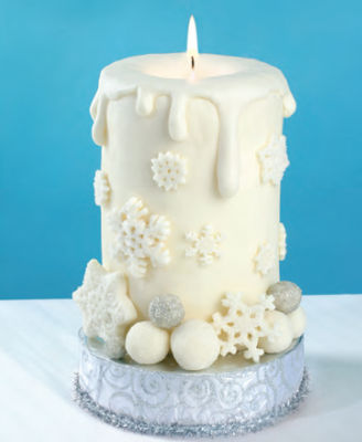 Cake Images With Candle : Winter Candle Cake   Candle Making