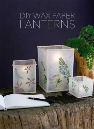 DIY Wax Paper Lanterns