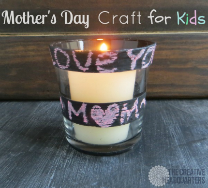 Chalkboard Paint Votives for Mom
