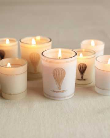 Vintage Style Hot Air Balloon Candle Wraps