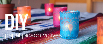 DIY Papel Picado Candles