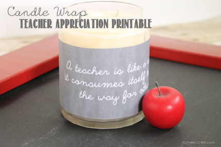 Printable Candle Wrap for Teachers