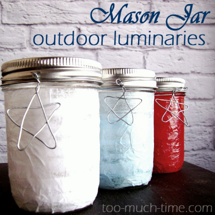 Outdoor Luminaries for the Fourth
